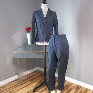 Talbots Petites Denim Look Pantsuit 6P 4P